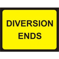 1050 x 750mm  Temporary Sign & Frame - Diversion Ends