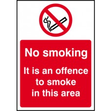 It is an offence to smoke - SAV (210 x 148mm)