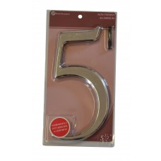 """5 1/2"""" Silver Effect Numeral 5"""