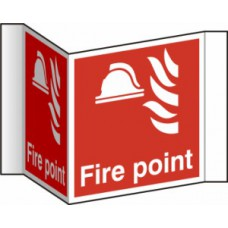Fire point (Projection sign) - RPVC (200mm face)