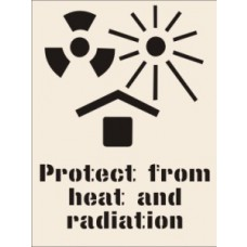 Protect from Heat and Radiation Stencil (600 x 800mm)