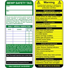 MEWP Tag Inserts (Pack of 50)