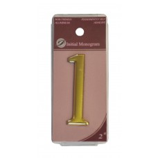 "2"" Gold Effect Numeral 1"