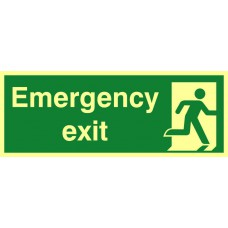 Emergency exit - PHS (400 x 150mm)
