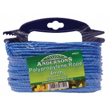 4mm x 30m Multi Blue Poly Rope