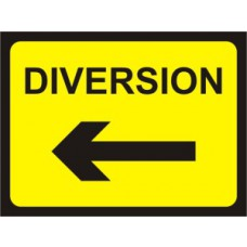 1050 x 750mm  Temporary Sign & Frame - Diversion (arrow left)