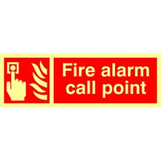 Fire alarm call point - Photolum. (300 x 100mm)