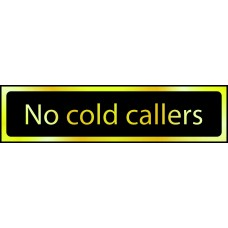 No cold callers - POL (200 x 50mm)