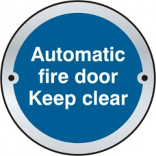 Automatic fire door Keep clear door disc - PSS (75mm dia.)