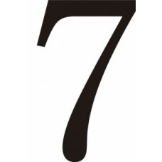 51mm Black Traditional Oldstyle Font Vinyl Number 7