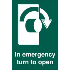 In emergency turn to open (Right) - SAV (100 x 150mm)
