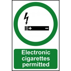 Electronic cigarettes permitted - PVC (200 x 300mm)