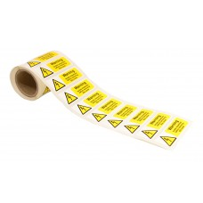 Warning Isolate Elsewhere - 250 Roll SAV (75 x 25mm)