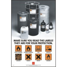 RoSPA Safety Poster - Make sure you read the labels... (Laminated)