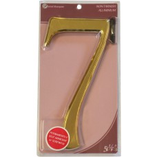"""5 1/2"""" Gold Effect Numeral 7"""