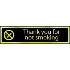 Thank you for not smoking - POL (200 x 50mm)