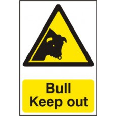 Bull Keep out - PVC (200 x 300mm)