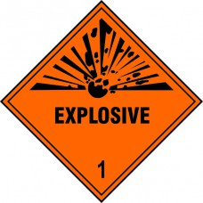 Explosive 1 - Labels (250 x 250mm Pack of 10)