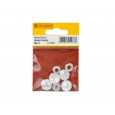White Plastic Dome Screw Cover (Pack of 4)