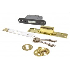 "63mm (2.5"") Brassed 5 Lever BS3621 Mortice Dead Lock"