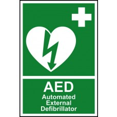 Automated external defibrillator 'AED' - PVC (200 x 300mm)