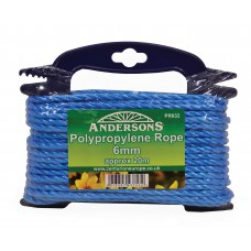 6mm x 20m Multi Blue Poly Rope