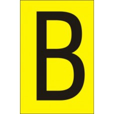 75mm Yellow Vinyl - Character 'B'   (Pack of 10)