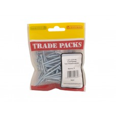 "1 1/2"" x 8 ZP Pozi Twinthread C/Sunk Woodscrews Trade Packs (pack of 70)"