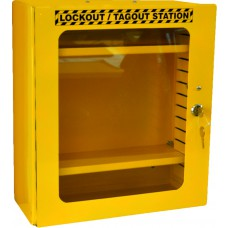 Yellow Lockout Cabinet - Clear Fascia (HWD: 400 x 360 x 155mm)
