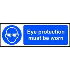 Eye protection must be worn - SAV (300 x 100mm)