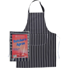 Apron - Blue and White Striped Butchers