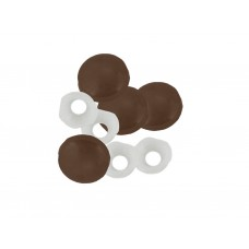 Brown Plastic Dome Screw Cover (Pack of 4)