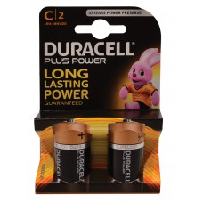 Duracell - Batteries - Plus Power C x 2