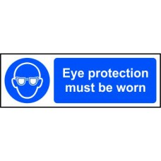 Eye protection must be worn - RPVC (600 x 200mm)