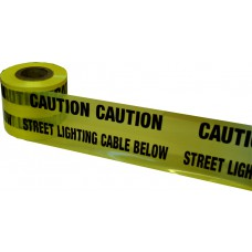 Underground Tape 150mm x 365mtrs Street lighting cable below (yellow)