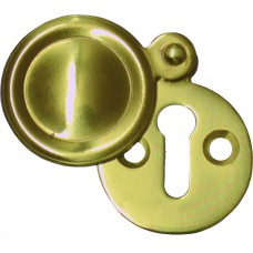Covered Escutcheon - Polished Brass - Clip Strip x12