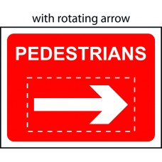 600 x 450mm Temporary Sign - Pedestrians with reversible arrow