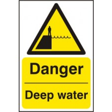 Danger Deep water - RPVC (400 x 600mm)