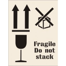 Fragile Do Not Stack Stencil (190 x 300mm)