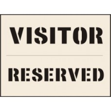 Visitor Reserved Stencil (300 x 400mm)