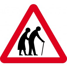 600mm tri. Dibond 'Frail Or Disabled Pedestrians' Road Sign (with channel)