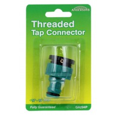 "Hose Connector - Threaded Tap - 1/2"" - 3/4"" BSP"