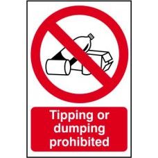 Tipping or dumping prohibited - PVC (200 x 300mm)