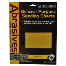 10 Assorted Sandpaper Pack