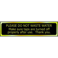 Please do not waste water ... - POL (200 x 50mm)