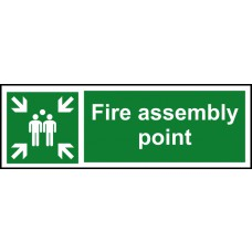 Fire assembly point - RPVC (600 x 200mm)