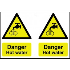 Danger Hot water - PVC (300 x 200mm)