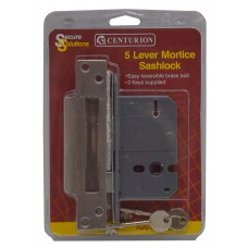 "63mm (2.5"") Chromed 5 Lever BS3621 Mortice Sash Lock"