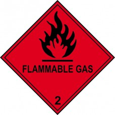 Flammable Gas 2 - Labels (100 x 100mm Roll of 250)