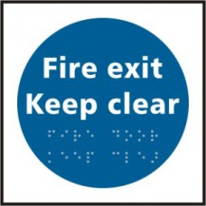 Fire exit Keep clear - Taktyle (150 x 150mm)